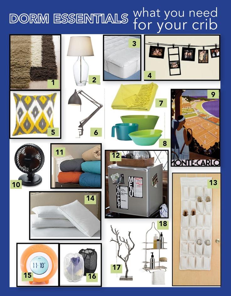7 best dorm room essentials images on pinterest college for Living room essentials list