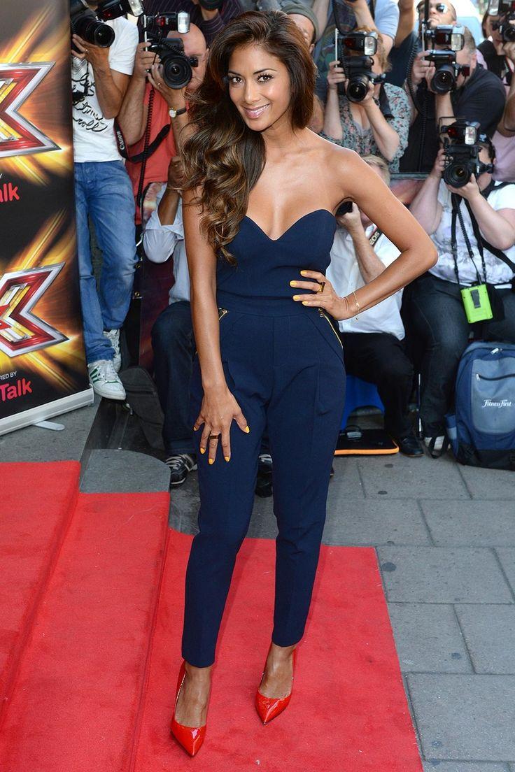X Factor's Nicole Scherzinger steels the show in a blue jumpsuit by Three Floor