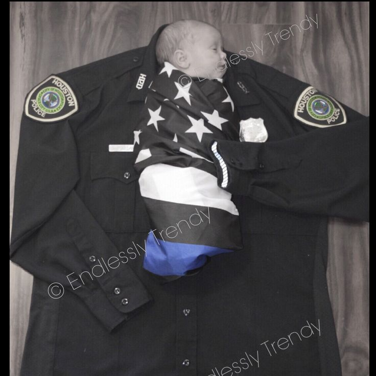 My Dad...My Hero Thin Blue Line Police :)  Police kid son daughter newborn photography