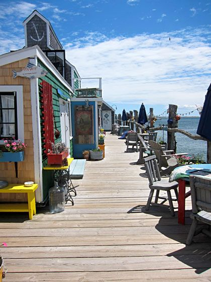 Cap'n Jack's Wharf in Provincetown's West End. The wharf has enjoyed many incarnations, from working wharf to theater, and now, vacation rentals.