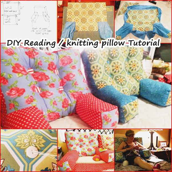 If you like staying in your bed for reading, watching tv, knitting, embroidering, web surfing... you will love this backrest arm pillow. #diy #pillow