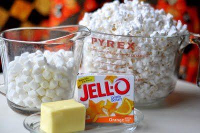 Jello Popcorn Balls - Can make them for any holiday
