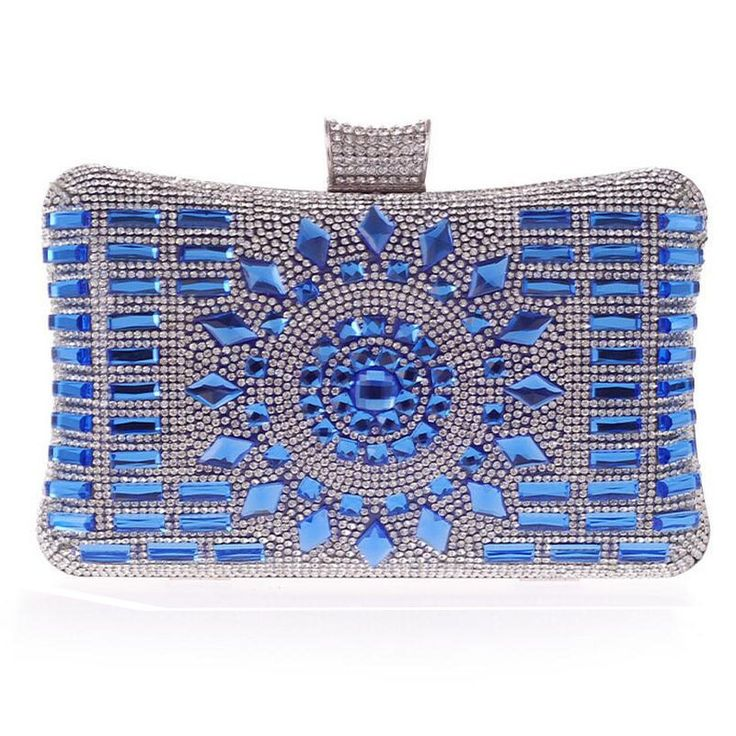 New 2015 glass diamond silver evening bags top quality gold clutch bag elegant blue bag party wedding bridal purse w641-in Evening Bags from Luggage & Bags on Aliexpress.com | Alibaba Group