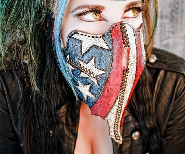 Team USA Motorcycle Mask | DudeIWantThat.com