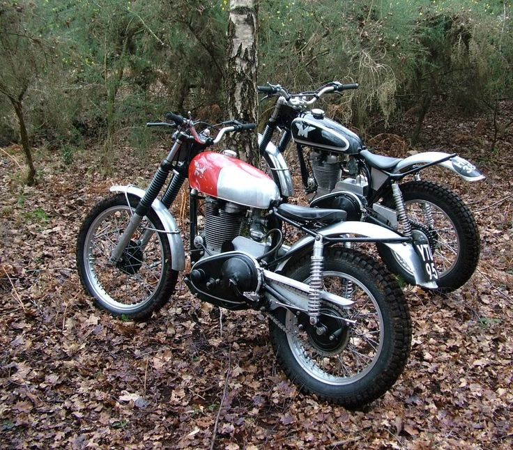 Vintage Matchless Trial bikes
