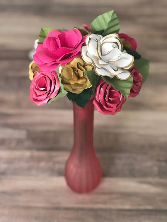 Romantic Gift Paper Flowers Paper Flower Bouquet Paper Bouquet