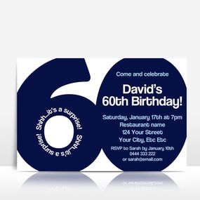 The BIG 6-0 birthday invitation