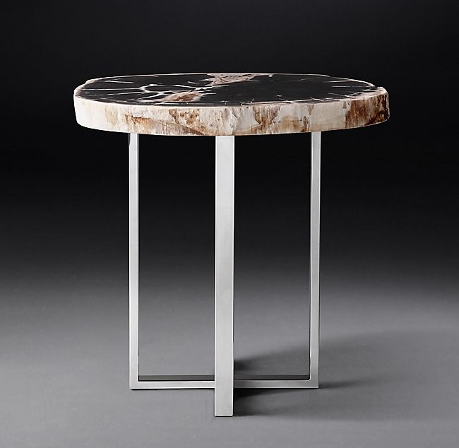 1970s Petrified Wood Slab Round Side Table In 2019 Wood Slab Round Side Table Round Glass Coffee Table