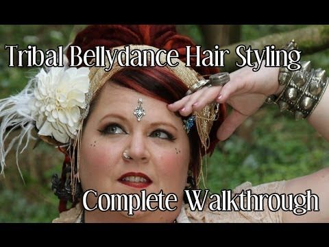 LOVE Beauty Along tutorials. Awesome ATS/ Tribal Bellydance Hair. Great tutorial for Long or short hair!