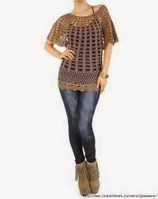 Crochet patterns: Free Crochet Pattern for Infamous Asos Tunic༺✿ƬⱤღ http://www.pinterest.com/teretegui/✿༻