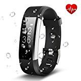 #8: Antimi Fitness Tracker Heart Rate Monitor Activity Tracker Smart Bracelet Bluetooth Pedometer Smartwatch for iPhone X 8 8 Plus Samsung S8 and Other Android or iOS Smartphones(Black) #movers #shakers #amazon #electronics #photo