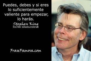 Frases de Stephen King - Frases de Valentía - Frase Famosa