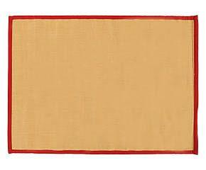 tappeto in sisal e cotone larya rosso - 140x200 cm
