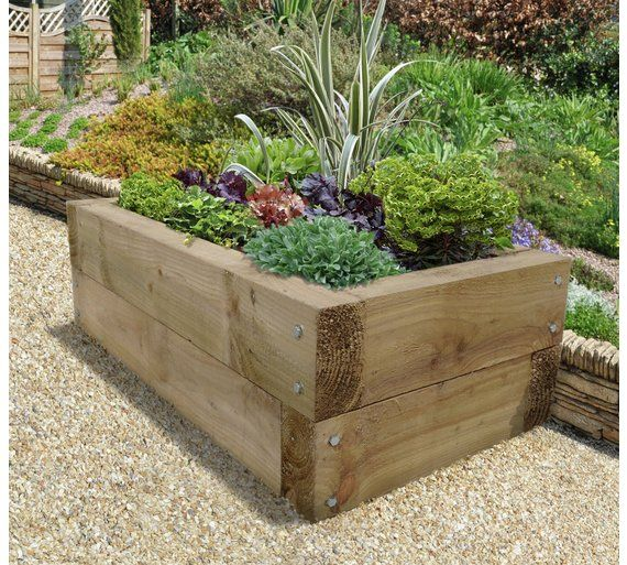 Buy Forest Sleeper Raised Bed Planter At Argos.co.uk
