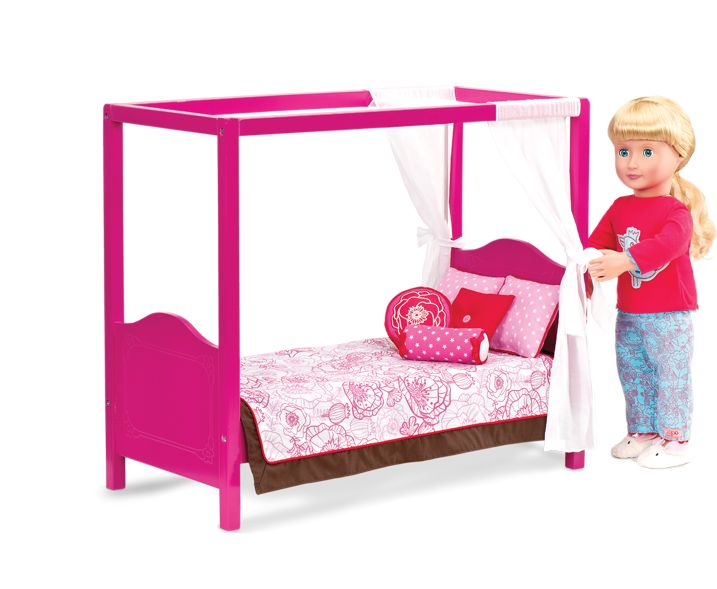 My Sweet Canopy Bed Our Generation Dolls Og Our