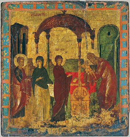 Icon with the Presentation of Christ in the Temple [Byzantine] (31.67.8) | Heilbrunn Timeline of Art History | The Metropolitan Museum of Art