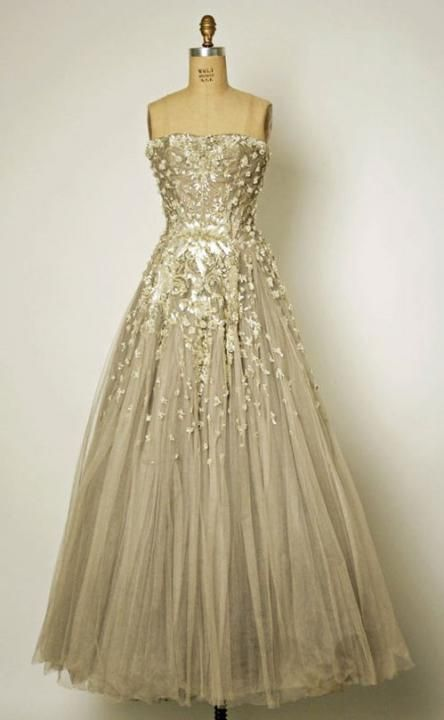 Vintage Dior Wedding gown from The LANE's Vintage Glamour Wedding Theme  http://www.thelane.com/the-guide/themes/vintage-glamour