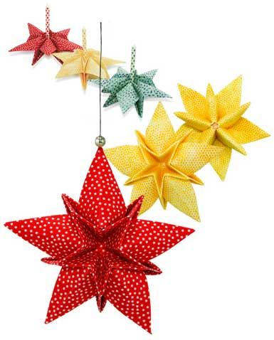 Fabric Origami Star Ornaments