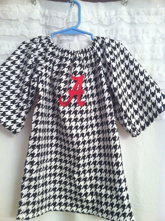 Alabama Houndstooth Dress 2T girls 8 by mhargrove09 on Etsy, $30.00