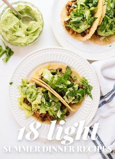 Browse 18 light summer dinners, none of which require the oven! You'll find lots of fresh tacos, salads, and pastas. All meatless, many vegan/gluten free.