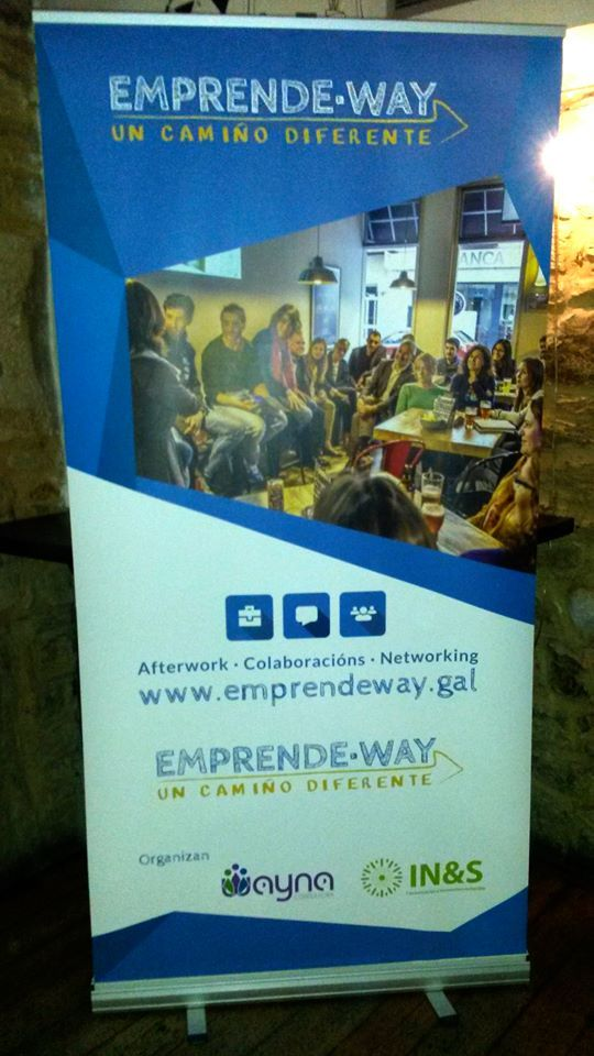 Diseño de roll-up para las jornadas de afterwork de Emprende Way