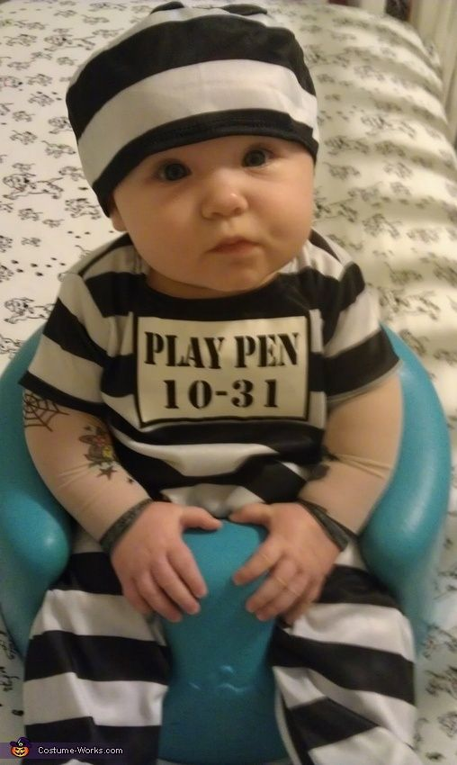Guilty of Stealing Your Heart - cute baby costume idea for Halloween!