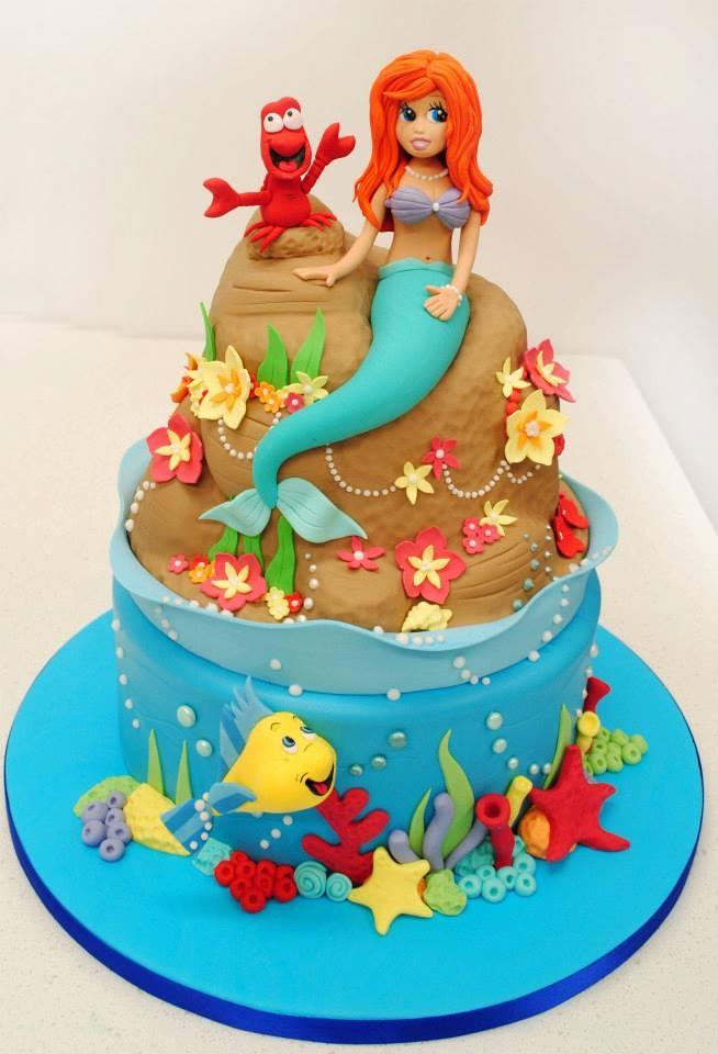 87 Best Little Mermaid Cakes Images On Pinterest Little