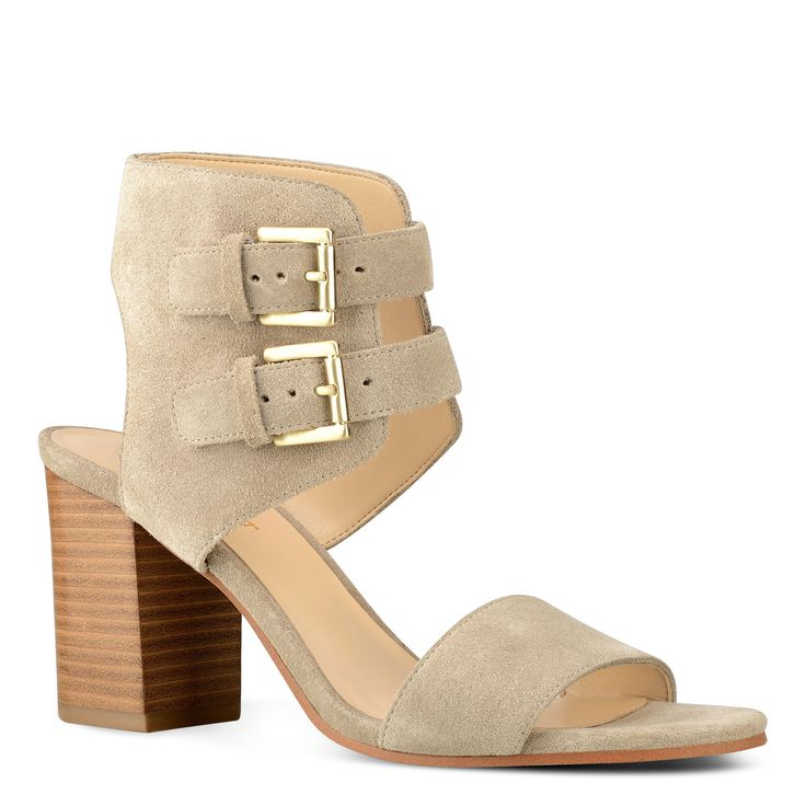 Galiceno Open Toe Buckled Suede Sandals | Nine West