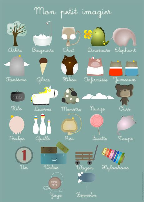 Je t'aime! Decorate your #nursery walls & teach your tot French at the same time! #print