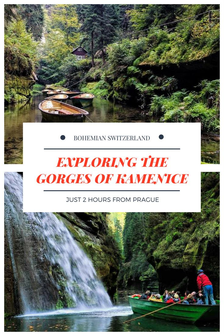 Czech Republic Travel: Exploring Gorges of Kamenice - the best day trip from prague on a hot summer day. Just 2 hours from Prague, you can fill your lungs with fresh air, walk around the small river Kamenice, and admire spectacular scenery. All on a day trip from Prague to Bohemian Switzerland National Park. Click here to read more about this magical place.