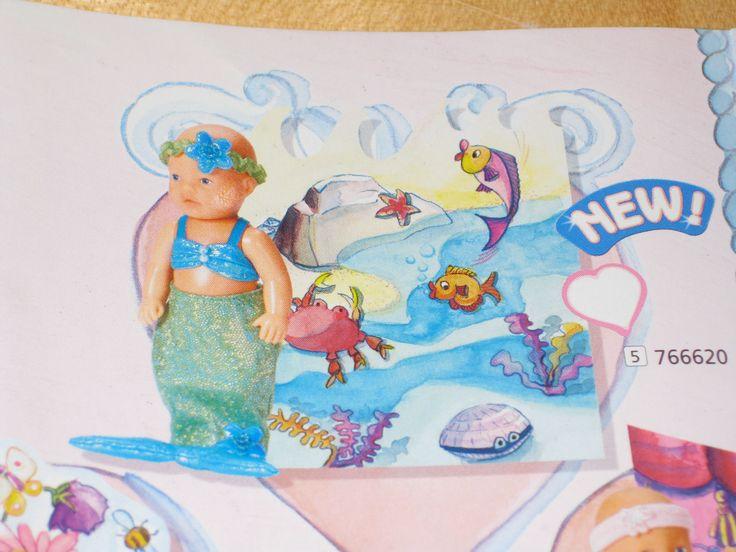 wie neu, Baby Born Miniworld Nixe Sammleredition, Display, rosa, Meerjungfrau in Spielzeug, Puppen & Zubehör, Babypuppen & Zubehör   eBay!