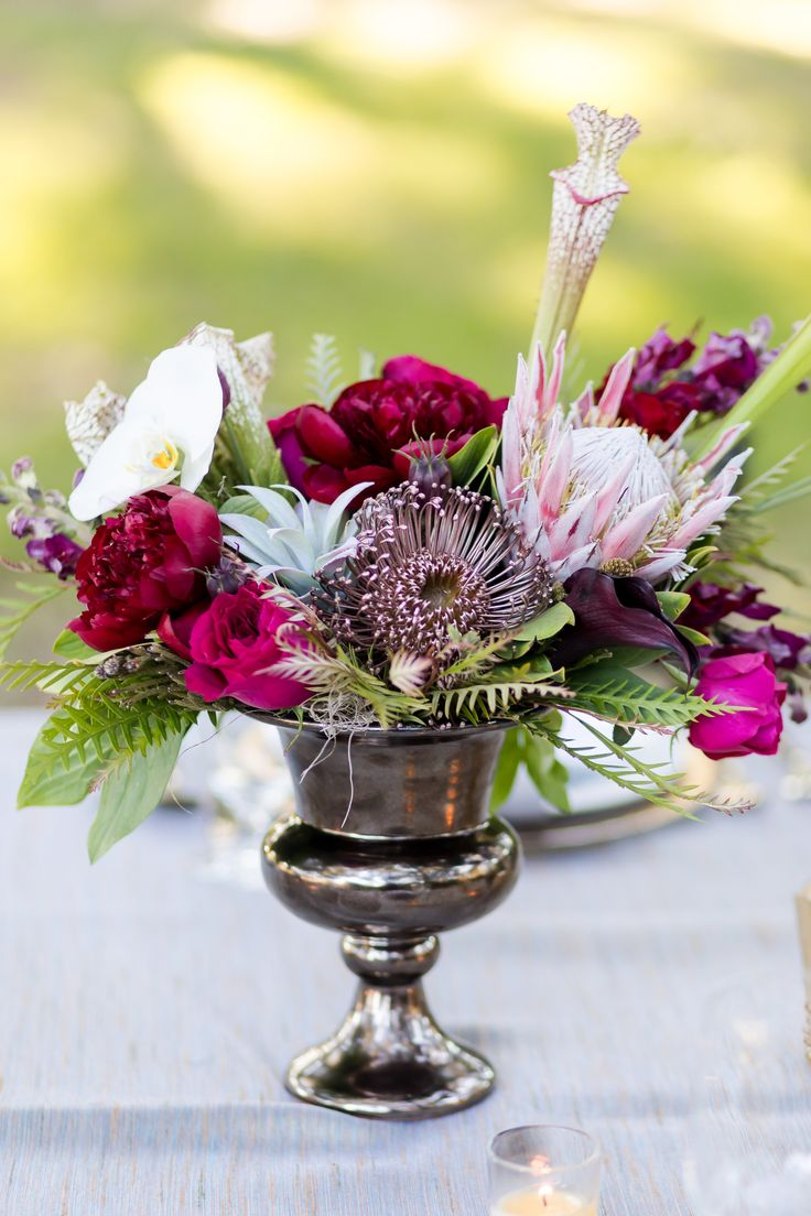 1530 best weddings flower arrangements images on pinterest wedding purple and pink magenta centerpiece junglespirit