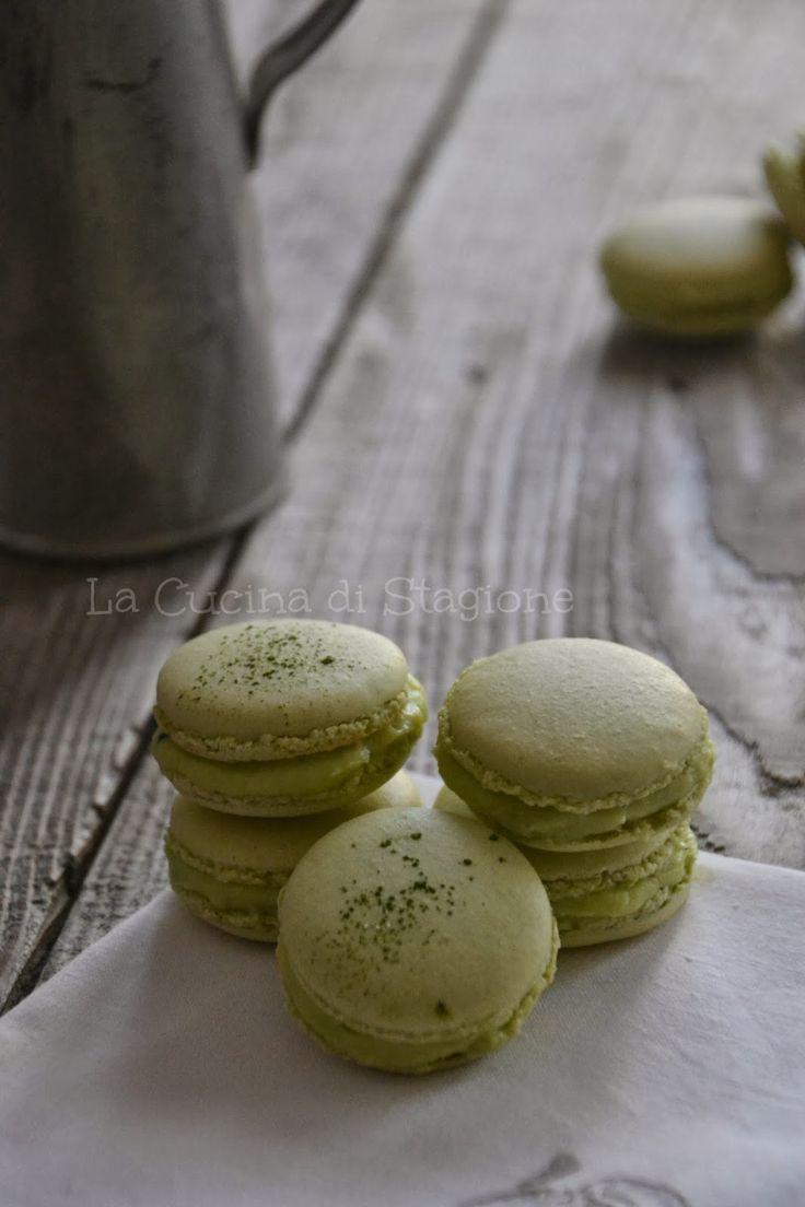 La Cucina di Stagione: Macarons al tè Matcha