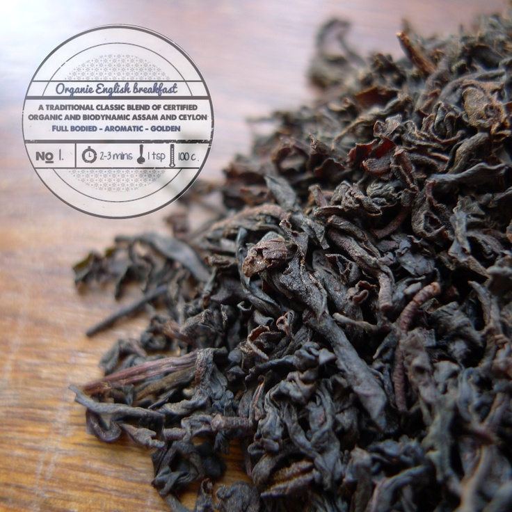 Organic English Breakfast by   T totaler:  A Traditional Blend of Certified Organic Assam and Ceylon Tea.