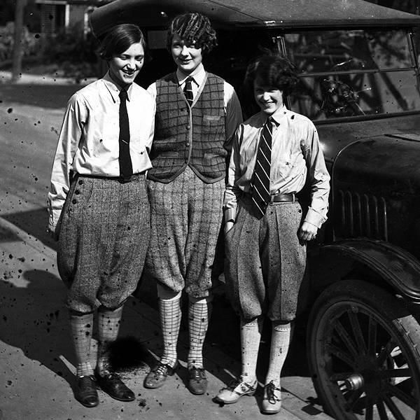 1926. Girls in Knickers & Ties -- what's a man to do -- gone are the hourglass figure girls of Dad's day.