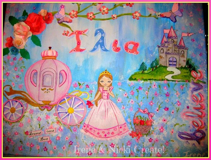 Irene & Nicki Create!  :          Princess'Ilia' Canvas Art ...