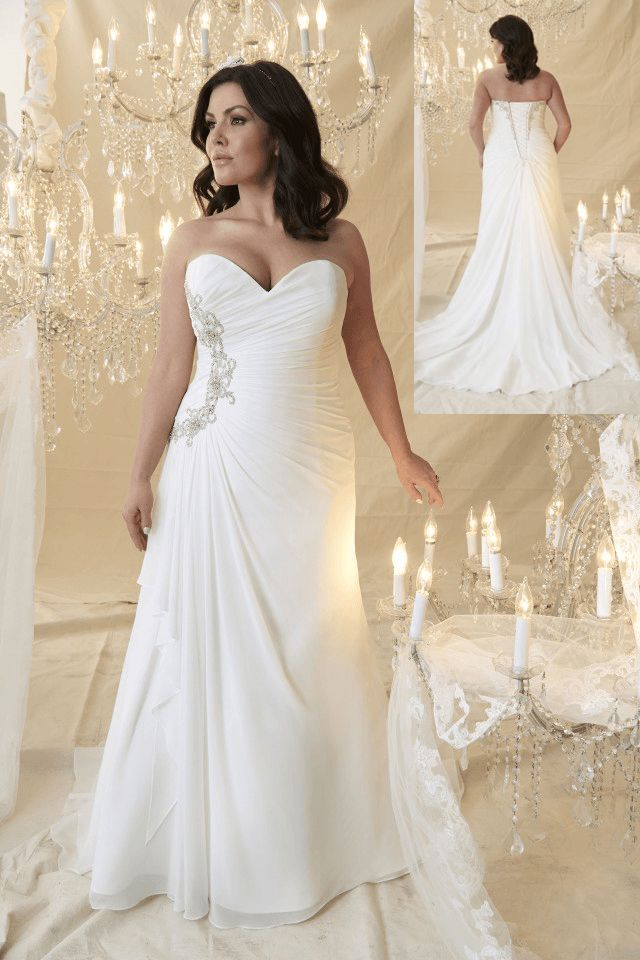 88 best images about plus size wedding dresses on for Size 30 wedding dress
