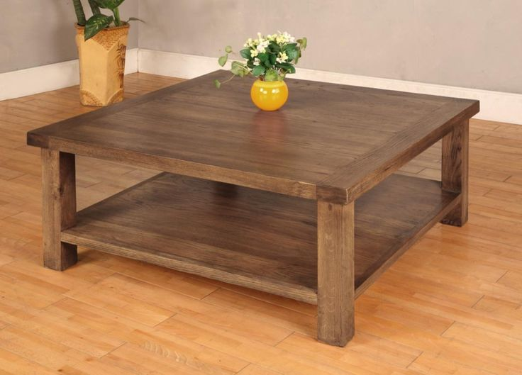 12 best images about Rustic square coffee table on Pinterest