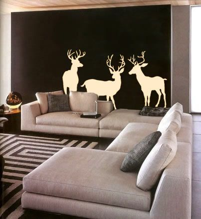 Wall Decal Three Deer Wildlife Outdoors Hunting Home Decor Vinyl Sticker. $52.00, via Etsy. Nicki, I'm pinning this for u. Classy way to incorporate that deer head in ur future house! Haha!