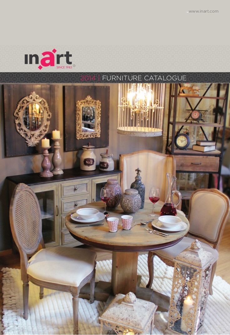 inart's 2014 Furniture Catalogue. www.inart.com
