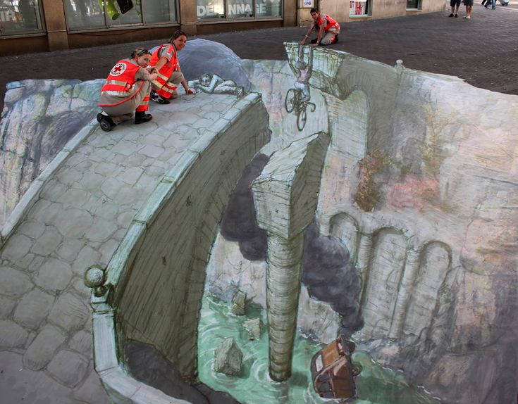 Best Chalk Drawings Images On Pinterest D Chalk Art Art D - Anamorphic art looks real
