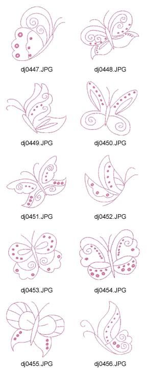 Butterflies - there are lots of design sets on this site but you have to join to be able to download them.