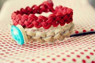 Buggie and Jellybean: Slip Knot Leather Bracelets {DIY}