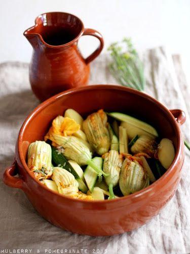 Stuffed zucchini flowers with rice, mint & fennel pollen (Λουλούδια κολοκυθιάς γεμιστά)
