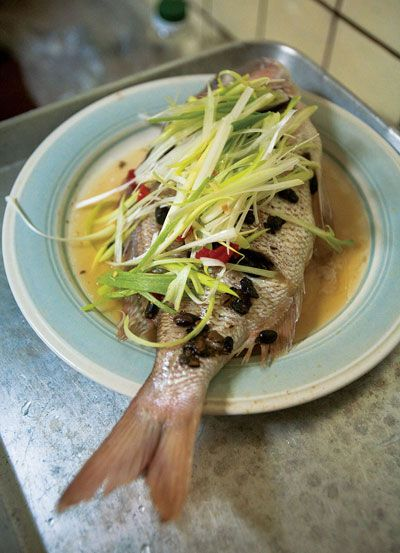 Steamed Fish with Ginger and Scallions (Ging Zheng Yu) | SAVEUR