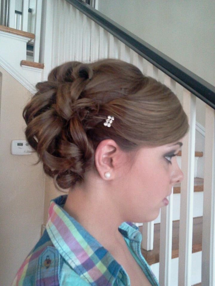 Side of hair for Military Ball!