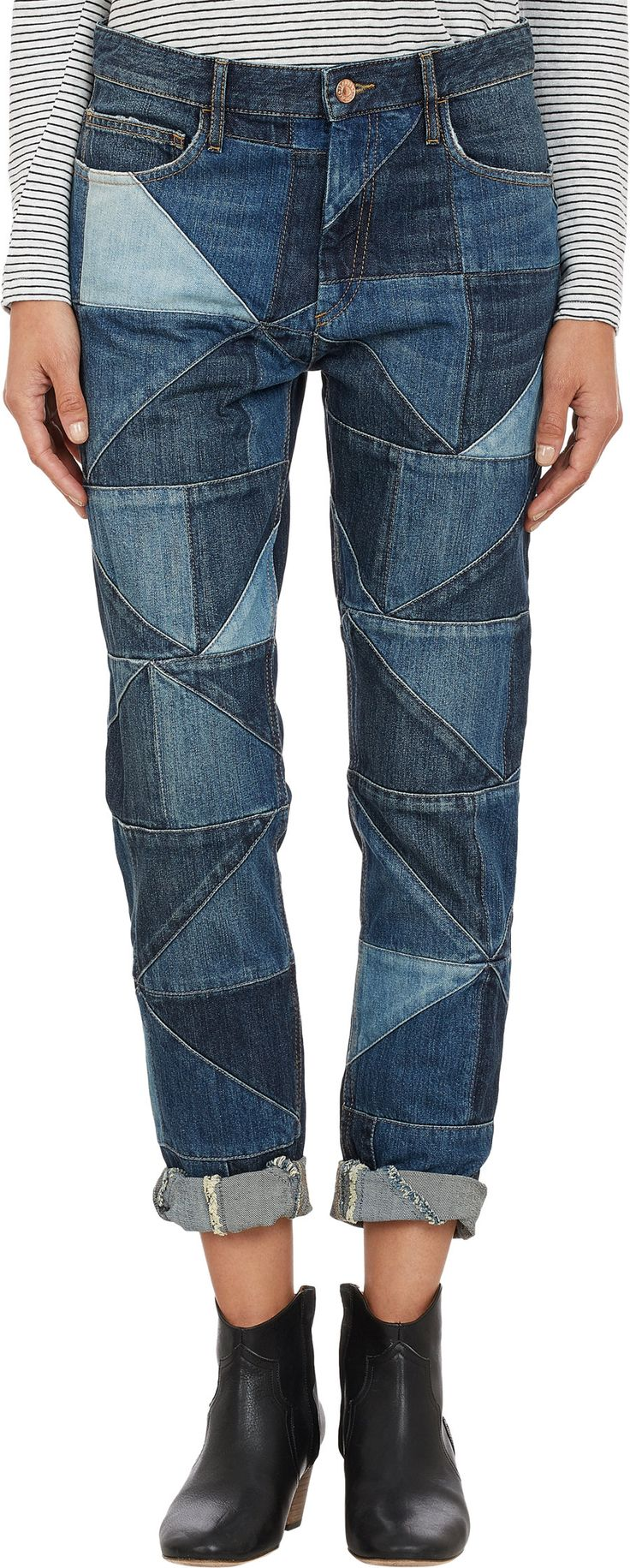 Isabel Marant Étoile Patchwork Dillon Jeans at Barneys.com