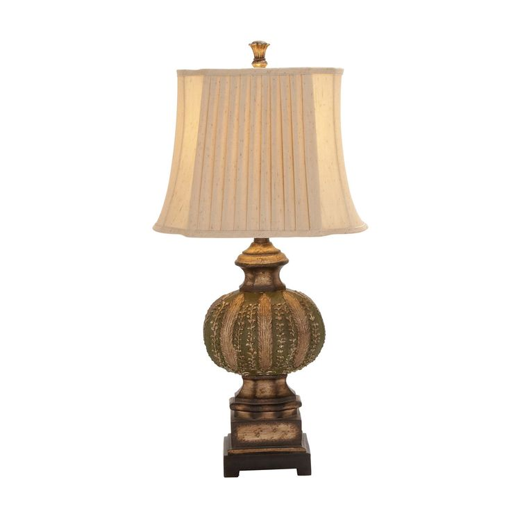 """EC World Imports Urban Chateau Bordeaux 34"""" H Table Lamp with Bell Shade"""