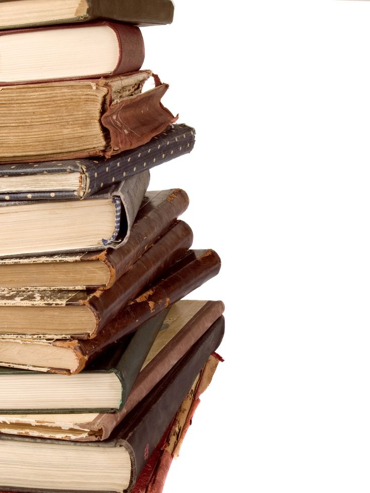 Stack Of Books Spine Pile Old Books Stock Photo