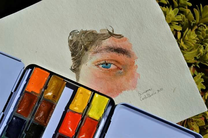 .#watercolors #watercolorpainting #detail #illustration #illustrationart #illustratorsoninstagram #illustrationoftheday #art #artoftheday #photooftheday #sketch #withnights #watercolor #instagood #instart #girlanatomy #eye #blueeye #blueye #followmenow #hair #hairbrown #sketchbook #photo #nude #face #drawingtime #art #artist #pensil ♡